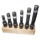 6 PIECE 5/8 INCH ROUND SHANK INDEXABLE BORING BAR SET | 1001-0706