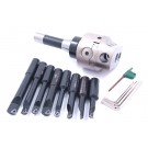 "INDEXABLE TOOL SET WITH 3"" BORING HEAD, R8 SHANK & 8 BORING BARS (1001-0205)"
