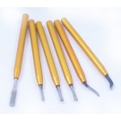 6 PIECE MINI DEBURRING & SCRAPING TOOL KIT (2001-0228)