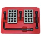 8 PIECE 1-2-3 PRECISION 23 HOLE BLOCK SET WITH SCREWS & HEX KEY (3402-0055)