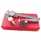 PRO-SERIES 3 PIECE CALIPER & MICROMETER & INDICATOR INSPECTION KIT (4902-0003)