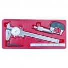 "3 PIECE TOOL KIT WITH 1"" MICROMETER 6"" CALIPER & 6"" RULE (4902-0007)"