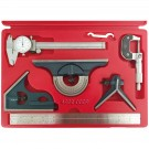 6 Piece Tool Kit with Caliper, Micrometer & Combination Square (4902-0009)