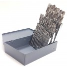 29 PIECE BRIGHT HIGH SPEED STEEL JOBBER DRILL SET (1/16-1/2) USA (5001-0029)