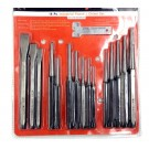 16 PIECE PRECISION PUNCH & CHISEL SET WITH GAGE (8016-0016)